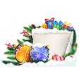 Christmas presents and baubles vector image vector image