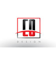 co c o logo letters with red and black colors and vector image vector image