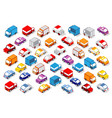 colorful 3d isometric set vector image vector image