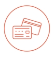 Credit card line icon vector image