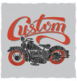custom motorcycles poster vector image vector image