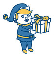cute elf christmas cartoon vector image vector image