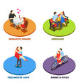 dating 2x2 design concept vector image vector image