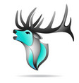 Deer logo colorful vector image
