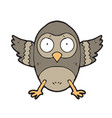 digitally drawn owl design hand drawing style vector image
