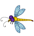 dragonfly cartoon vector image vector image
