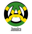 flag of jamaica of the world in the form of a vector image vector image