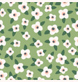 floral seamless pattern design for paper vector image vector image