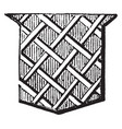 fretty ordinary is covered with lines crossing vector image vector image
