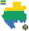 Gabonese Republic Flag vector image vector image