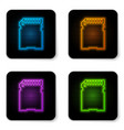 glowing neon sd card icon isolated on white vector image vector image