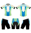 green blue cycling vest design vector image vector image