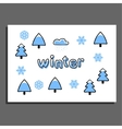 Greeting card with winter vector image vector image