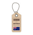 hang tag made in australia with flag icon isolated vector image vector image