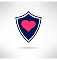 Heart and love shield icon Health defence concept vector image