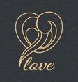Heart shape logo design template vector image vector image