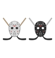 Horror hockey Mask for Halloween vector image vector image