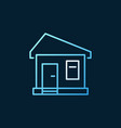 house concept colored outline icon or logo vector image