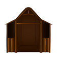 isolated wooden manger vector image vector image