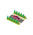 isometric front right view pickup vector image