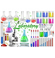 Laboratory tools and equipments vector image vector image