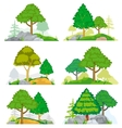 Landscapes with coniferous and deciduous trees vector image vector image