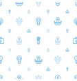 lightbulb icons pattern seamless white background vector image vector image
