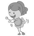 Little girl in skirt dancing vector image vector image