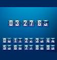 mechanical time timer set digits vector image