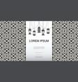 monochrome arabic elegant template vector image