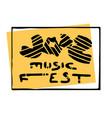 music festival lettering vector image