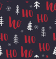 new year and christmas seamless pattern with ho vector image vector image