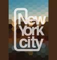 new york city logo vector image