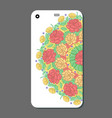 phone case design fashionable floral ornaments vector image