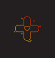 plus heart medical icon vestor design vector image