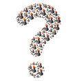 question mark shape of rooster icons vector image vector image