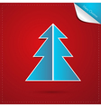 Red Blue Abstract Merry Christmas Background vector image vector image