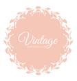 round vintage frame vector image