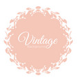 round vintage frame with vector image vector image