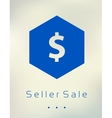 Sale discount dollar sign button on blurred vector image
