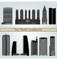 Sao Paulo V2 landmarks and monuments vector image vector image