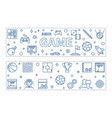 set 2 game outline banners games vector image vector image