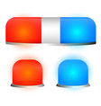 siren lamp emergency light flasher set vector image