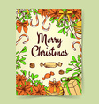 Sketch Christmas background vector image vector image