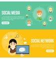 Social media network website templates vector image