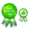 St Patrick Day Medals vector image vector image