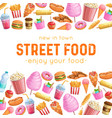 street food layout vector image vector image
