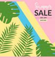 summer sale background with leaf memphis style vector image vector image