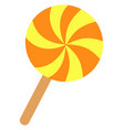 sweet lollipop on white background vector image vector image