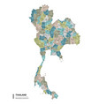 thailand higt detailed map with subdivisions vector image vector image